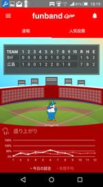 6月4日試合結果のアプリ画面