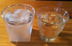 RayESグラスの保冷効果と結露防止効果